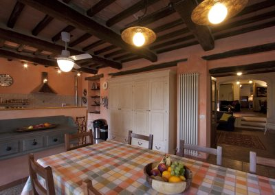 Kitchen, dining area and adjoining sitting room
