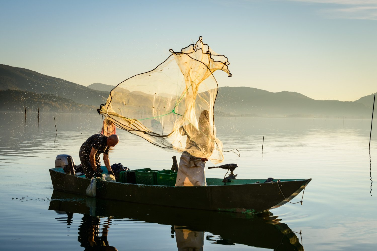 Fishing at Trasimeno Lake, Umbria, Italy ©AndrewJonesfoto.com